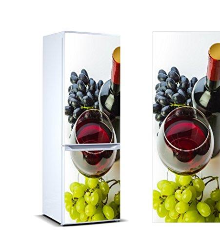 Vinilo para Frigorífico vinoteca | Varias Medidas 185x60cm | Adhesivo Resistente y de Fácil Aplicación | Pegatina Adhesiva Decorativa de Diseño Elegante