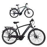 FISCHER Herren - E-Bike Trekking VIATOR 4.0i (2020), schwarz matt, 28 Zoll, RH 50 cm, Mittelmotor 50 Nm, 48 Volt Akku im Rahmen