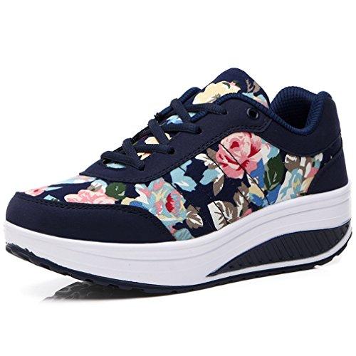 Fashion Walkmaxx Plateau Solshine Schnürer Femme Sneakers Mit ChaussuresFitnessChaussuresDunkelblau7 39eu Keilabsatz rshQCtdx