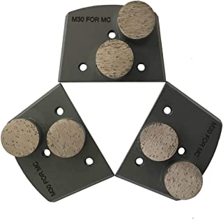 Trapazoidal Grinding Discs for Lavina and Edco Floor Grinders - #30/40 Grit Medium Bond Set of 3