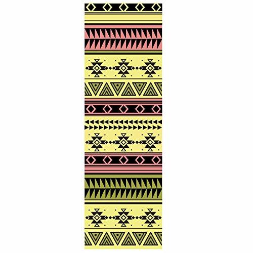 #DoYourYoga Tappetino da Yoga »Ravana« / Il Tappetino da Yoga e Ginnastica Ideale per i Principianti. Dimensioni: 183 x 61 x 0,4cm / Indiano Giallo