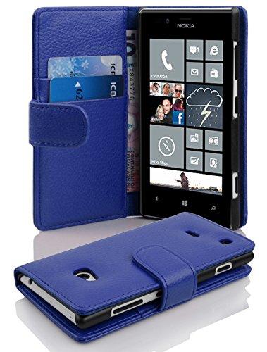 Cadorabo Funda Libro para Nokia Lumia 720 en Azul Real - Cubierta...