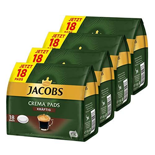 Jacobs Kaffeepads Crema Pads, Kräftig, Intensiver & Vollmundiger Geschmack, Kaffee, 64 Pads