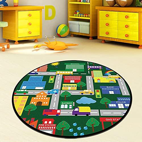 MENEFBS Alfombras de microfibra de poliéster para sala de estar, dormitorio, tacto suave, pelo grueso, sin fibra, resistente a la decoloración, coloridas alfombras de decoración del hogar 60 cm