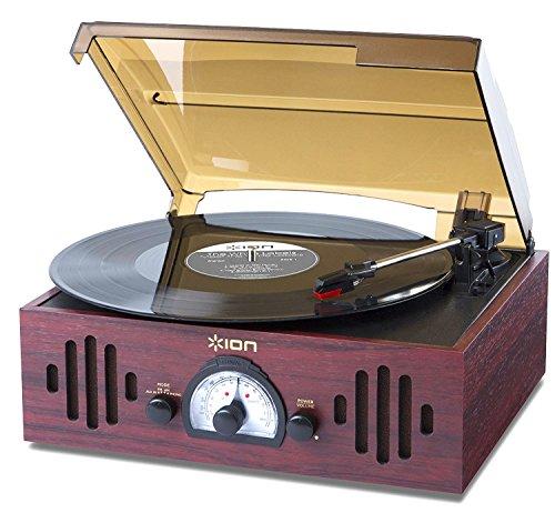 ION Audio Trio LP platenspeler in vintage-stijl met ingebouwde FM/MW radio en luidsprekers 3-in-1 multicolor