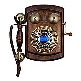 FHISD Estilo Retro Teléfono/Teléfono Fijo Botón Antiguo Tecla de marcación...