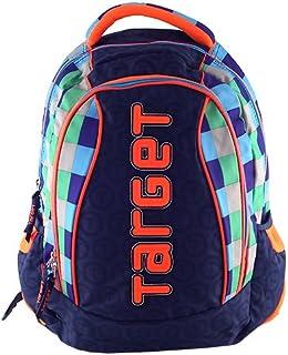 Mochila Tipo Casual, 12 Litros, Color Azul Oscuro/Azul Claro/Naranja