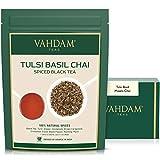 VAHDAM, té chai condimento con albahaca Tulsi, 100 gramos (50 tazas) | Té de albahaca santa | Tulsi Tea Con 100% ESPECIAS NATURALES | Hojas de té chai con especias | | Té de hojas sueltas de la India