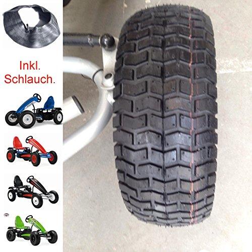 Kings Tire 1 Stück Gokart Breit-Reifen mit Blockprofilprofil inkl. Schlauch 16 x 6,5-8 Berg Ersatzteil