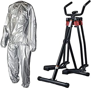 Fitness World Developer 4 destinations, Black with Sauna Suit for Weight Loss