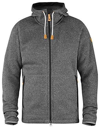 FJÄLLRÄVEN Herren Övik Fleece Hoodie, Dark Grey, XL