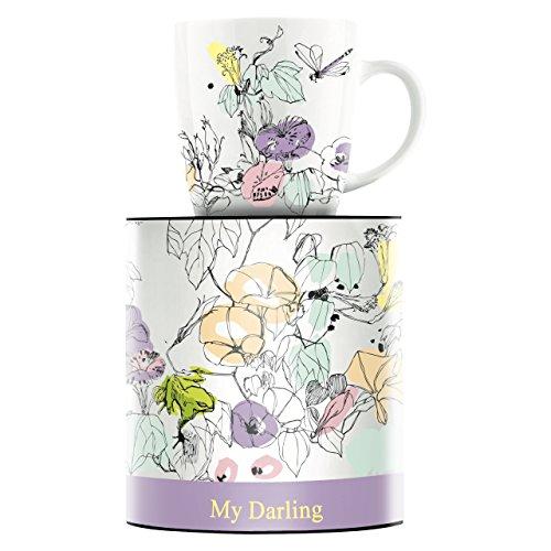 RITZENHOFF My Darling Kaffeebecher von Peter Pichler, aus Porzellan, 300 ml, mit trendigen Motiven