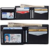 Alpine Swiss RFID Protected Mens Spencer Leather Wallet Bifold 2 ID...
