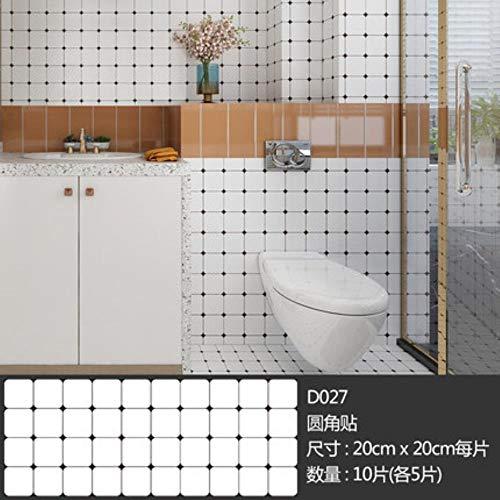 10st zelfklevende antislip keuken mozaïek Stickers Frosted waterdichte badkamer tegel Stickers vloer plakken huis decoratie, R