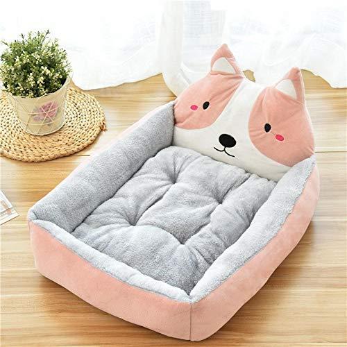 Dracol Caseta de perro con diseño de dibujos animados, sofá, cama para mascotas, lavable, estilo 2-50 x 40 x 12 cm
