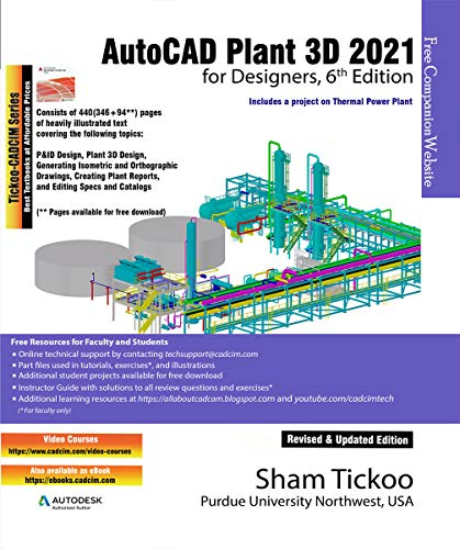 AutoCAD Plant 3D 2021 for Designers, 6th Edition (English Edition)