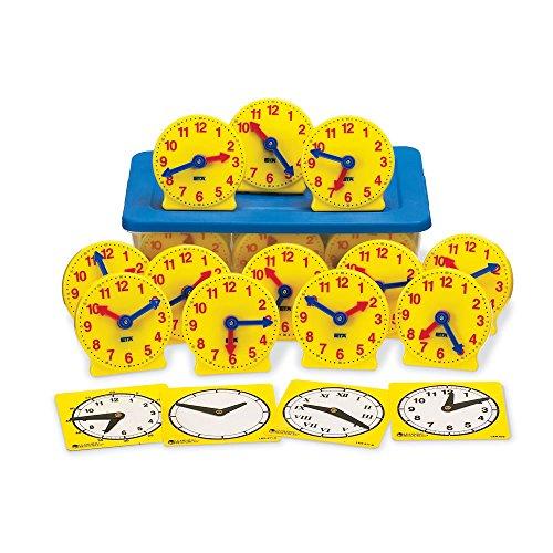 hand2mind Geared Clocks Classroom Kit (Set of 24)