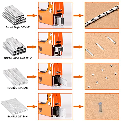 LANNIU Staple Gun, Heavy Duty Staple Gun with Remover, 4 in 1 Staple Gun with 4000 Staples for Upholstery, DIY, Fixing Material, Decoration, Carpentry, Furniture Photo #2