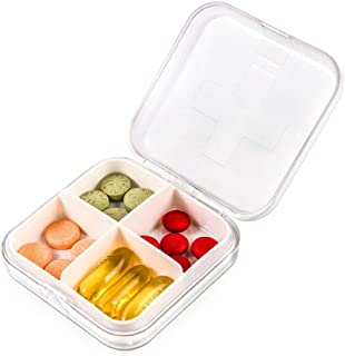XZHMYYH Medicine box Two four-frame mounted kit small square plastic storage box PP sealed drugs (Color : White)