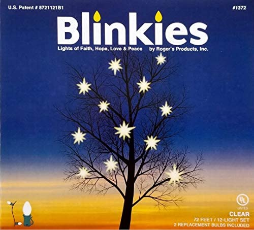 Blinkies Intermittent Non Programmed Relaxing Blinking Lights 72 Foot 12 C7 Bulbs Patented Soft product image