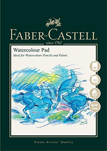 Faber-Castell Art & Graphic Spiralbindung Aquarellblock, A4 300 g / qm Block mit 10 Bögen