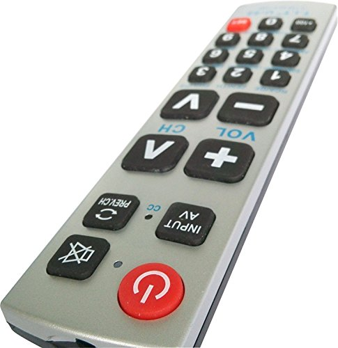 GMatrix - Big Button Universal Remote Control(TV only) - Retail Packaging (A-TV2)