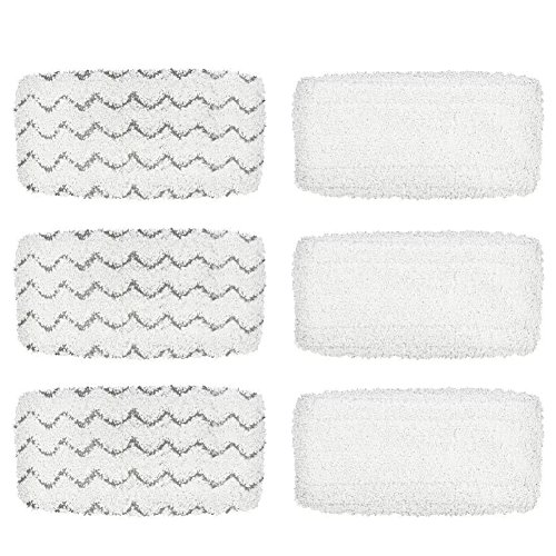 BettaWell Steam Mop Refill Pads Compatible with Bissell 1252 1606670 1543 1652 1132M 1530 11326 Symphony Hard Floor Vacuum Steam Cleaner Series (Pack of 6)