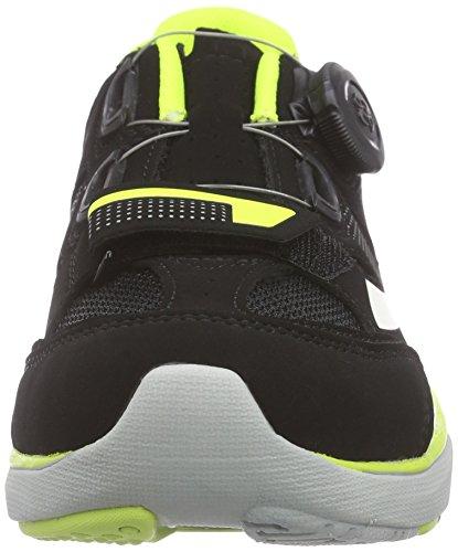 Diadora Gym, Zapatillas de Ciclismo de montaña. Unisex Adulto, Negro-Schwarz (Black/Yellow fluo/white6003), 45 EU