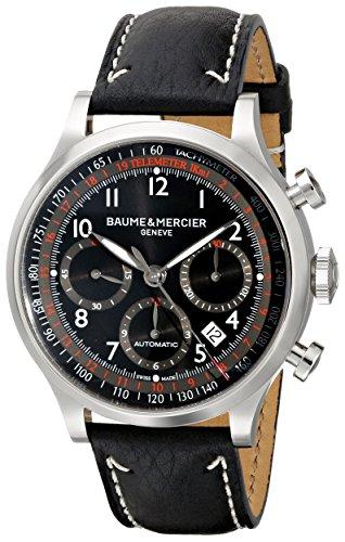 Baume & Mercier 10001 Capeland cronografo nero cronografo quadrante nero