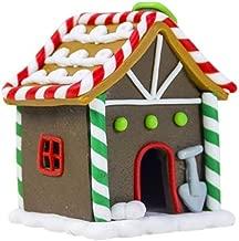 DGJEL Manualidades navideñas Figuras de Escritorio pintadas en Color Miniaturas Decoraciones de Arcilla polimérica Miniaturas de la casa, D