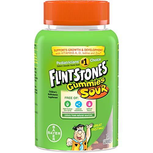 Flintstones Sour Gummies Complete 70 ea (Pack of 5)