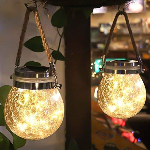 Solarlampen Außen, led solar licht Einmachglas 20 LED Wasserdicht Solar Einmachglas Aussen Lampions Solar Laterne Garten für Weihnachten,Außen Laterne,Garten, Balkon, Hof, Pfad Ornaments