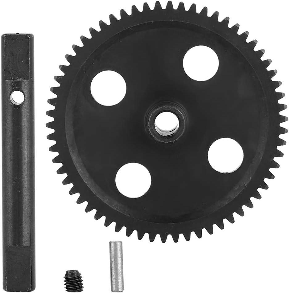 black for Wltoys 12428 12423 1//12 Crawler Short-Haul Trucks Rc Truck Wear-Resistent 62T RC Gear Spur Gear