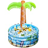 iBaseToy Inflatable Palm Tree Coolers, Inflatable Drink Coolers for Parties,HawaiianTropical Party Theme Decorations for Summer Beach, Floating Pool Cooler Inflatable Bar Cooler - 36 x 47 ''
