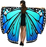 Halloween/Party Prop Soft Fabric Butterfly Wings Shawl Fairy Ladies Nymph Pixie Costume Accessory (168x135CM, Blue)
