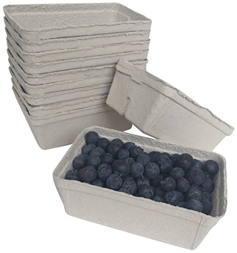 Nutley's Lot de 250 g en Fibre biodégradables Cagette avec des Fruits (Lot de 50)
