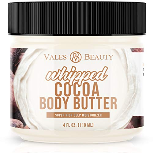 Cocoa & Shea Body Butter Cream With Almond Oil For All Skin Types & Helps Improve Appearance of Stretch Marks, Scars, Dark Spots, Uneven Skin Tone & Aging Skin