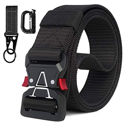 Fairwin Cintura Tattica, 3.8cm Senza fori Cintura Tattica Resistente a Sgancio Rapido per Uomo e Donna - Cintura Tattica per Pantaloni Cargo