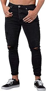 Tomwell Jeans da Uomo Strappati Jeans con Tasche Taglio Straigh Pantaloni Skinny Mode Casual Sguardo Distrutto Patchato Stile