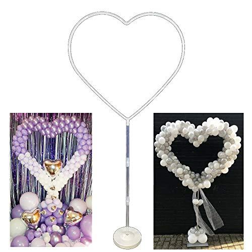 AbbyNi Kit Supporto Palloncino, Kit Arco Ghirlanda Palloncino Anello Cuore Palloncino per Matrimonio Compleanno Decorazioni Festa di San Valentino (1 Set)