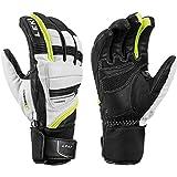 LEKI Griffin Prime S Handschuhe, Weiss-schwarz-gelb, EU 10.5