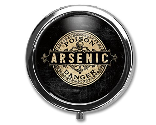 Arsenic Vintage Style Pill Box Case Pillbox Holder Trinket Stash Box Arsenic Vintage Style Medicine Vitamin Pill Organizer Case