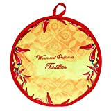 qianele - Bolsa de aislamiento térmico para tortilla (algodón y tejido de algodón), bolsa de aislamiento de alimentos, bolsa de almuerzo aislada, soporte perfecto para maíz y harina