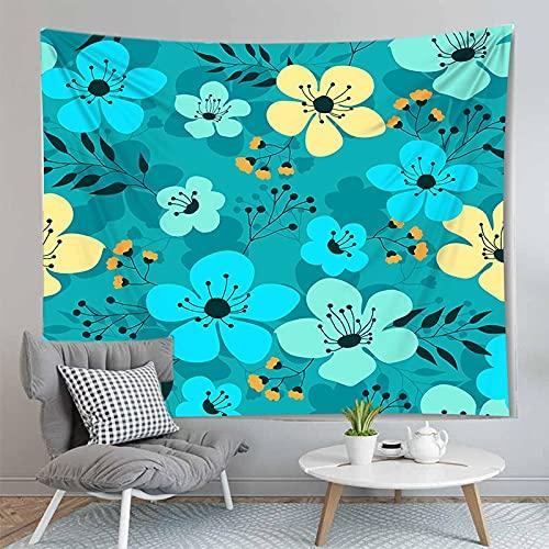 PPOU Tapiz con Estampado Floral tapices de Pared Artista decoración del hogar Fondo Tela sofá Manta Estera de Yoga Tapiz A6 150x200cm