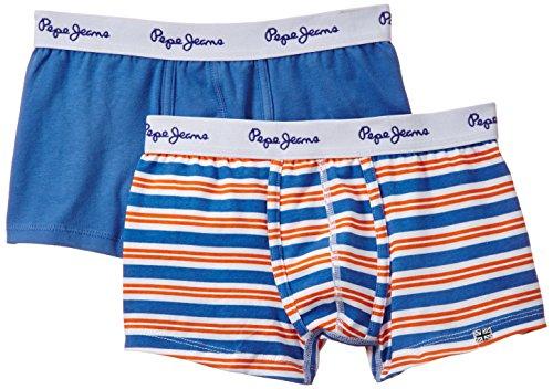 Pepe Jeans Jungen Milo Boxershorts, Mehrfarbig, 110 (Herstellergröße: 5) (2er Pack)