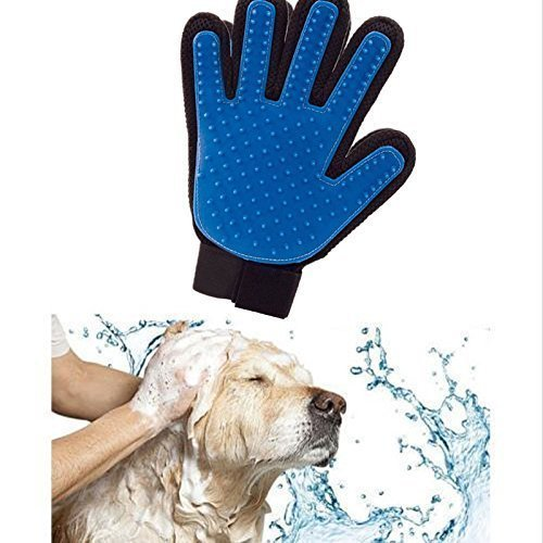 Product Image 4: PICKVILL Efficient Pet Hair Remover Mitt Enhanced 5 Finger Design Gentle Deshedding Brush Gloves for Dogs with Long and Short Fur (Multicolour)