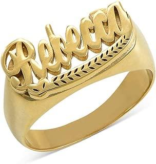Best custom name rings gold Reviews