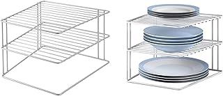 Metaltex 36400239095 Étagère d'angle Palio à 2 Étages 25 x 25 x 19 cm & Silos 364202 étagère d'angle porte-assiettes Blanc...