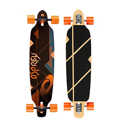 Osprey Erwachsene Longboard Nexus, Black/Orange, 99 x 23 cm