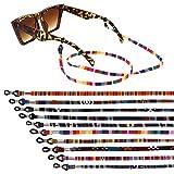 Xinzistar 10 Pezzi Cordini Per Occhiali, Laccetti per Occhiali Sport Laccio Occhiali Cinturino Catena Occhiali Sole Regolabile Catenina per Occhiali per Donna Uomo